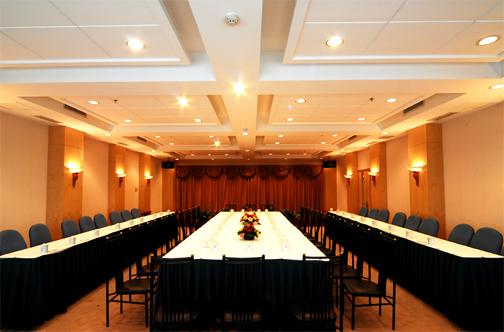 东楼中型会议室(2个)能容纳50-60人的会议。